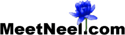 Meet Neel Sanghi, MeetNeel.com Logo, adorned with the royal insignia of the blue lotus